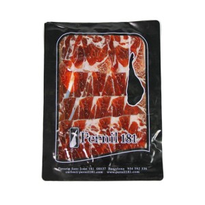 Sliced Iberico pata negra ham (cebo de campo)