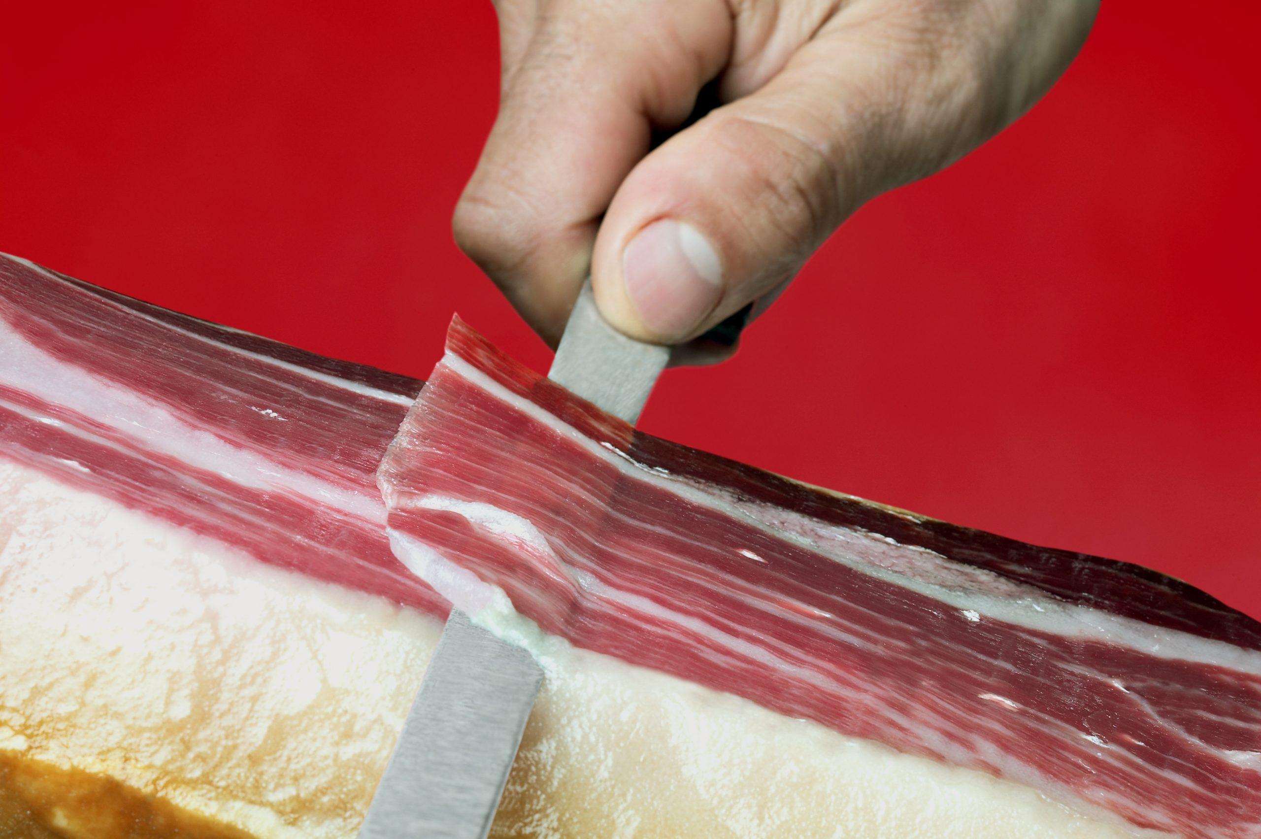 belang goed snijden iberico serranoham