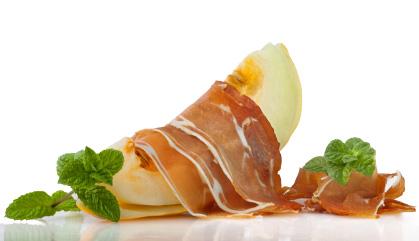 Recepten met Spaanse ham: Pata negra ham met meloen