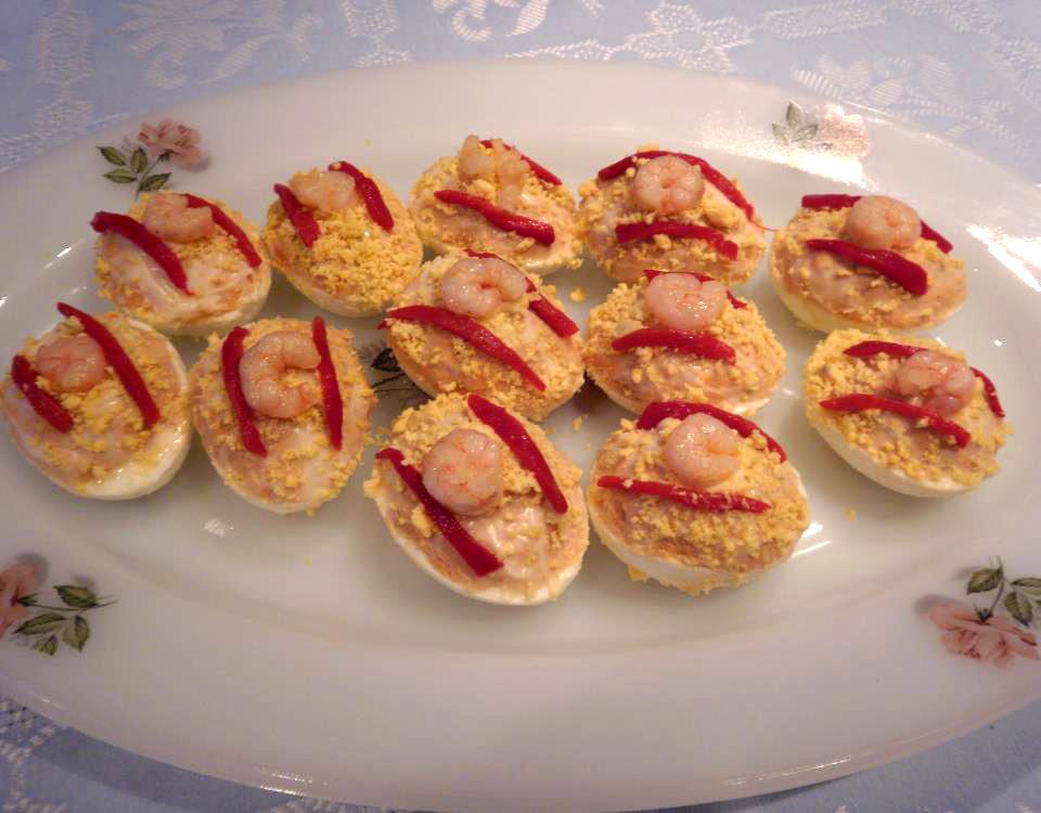 Recept: Eieren gevuld met tonijn uit Cantabrische zee