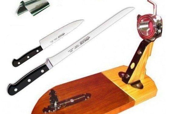 Soorten messen voor het snijden van ham
